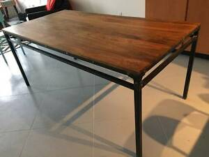 Urban Barn Reclaimed Wood/Wrought Iron Dining Table