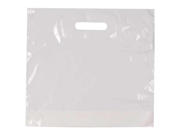 NEU 100 Plastiktüten Tragetaschen Einkaufstasche Traum Look Schwarz//Weiß 30x45cm