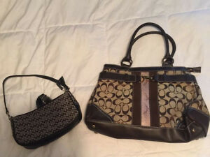 Good condition COACH purse and clutch