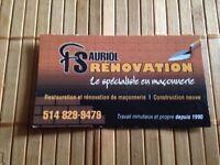 RENOVATION DE MACONNERIE DE TOUT GENRE ( residentiel )
