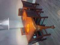 Beautiful antique table and 6 chairs