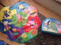 Peppa Pig Muddy Puddles Playmat & Puzzle & Colour Jigsaw Bundle