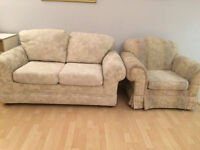 Set of Love Seat & Single Couch/Sofa