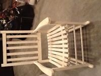 Rustic White rocking chair