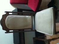 2 solid wood chairs - first offer takes them