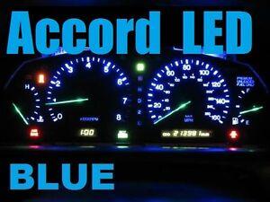 blue led dash kit light globe  honda accord   fast post ebay