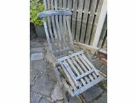 A Weathered Mahogany Folding Garden Chair.