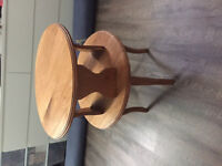 Well made round table, solid wood  $20.00