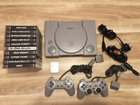 Sony PlayStation 1 With 10 Games & More