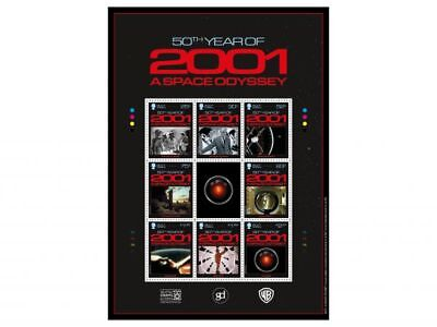 2001: A Space Odyssey Commemorative Sheetlet Mint (WJ64)