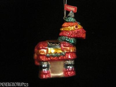 MEXICAN PINATA HORSE ORNAMENT~BLOWN GLASS~SPARKLES~NWT (Pinata Horse)
