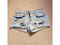 Top Shop denim shorts Size 10