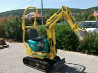 Man and Mini Digger or Just Mini Digger Hire, Sussex, garden work, footings, landscaping, driveways