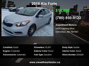 2016 KIA FORTE 6 MONTHS  NO PAYMENTS  AND 500.00 GAS CARD