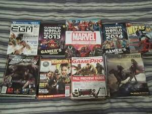 Video Game & Comic Book mags, guides, encylcos