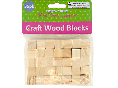 35-piece Natural Wooden Craft Unfinished Hardwood .625