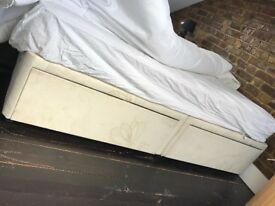 Divan box style bed frame with under bed storage