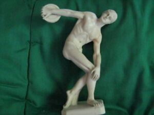 "5 1/2 "" high Discus Thrower---Detailed----$35."