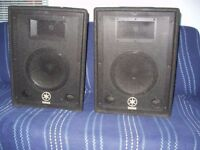 "Yamaha AX10 10"" Trapezoidal PA Speakers"