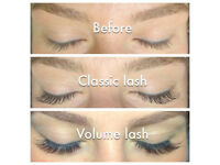 Semi permanent eyelashes. 3D lashes,russian volume.Freelance eyelash technician