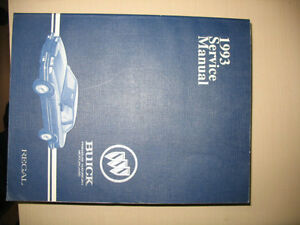 1993 Buick Regal Factory Service Manual Book 2 (Transaxle, Elect
