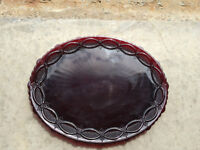 Red Glass 1876 Cape Cod Collection Serving Plate