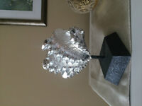 Silver Seashell Sculpture for Home Decor with stand