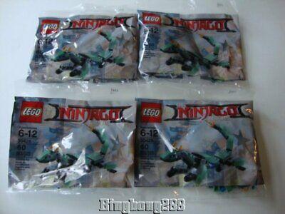LEGO The Ninjago Movie Polybag 30428 Green Ninja Mech Dragon Polybags x 4 - NEW