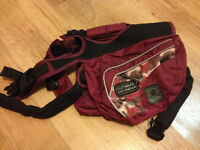 Dog Backpack, Brush, Harness and Nail Clippers For Sale