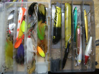 new and used musky lures fishing tackle bass kits