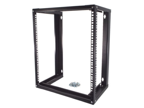 CNAweb 19 Inch Open Frame 12U Wall Mount Rack Cabinet, 18 Inches Deep