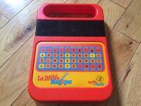 La dictee magique vintage 80's speak & spell e.t. l'extra terres