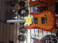 Solid Body Ibanez Style Cherry Sunburst Electric BRAND NEW