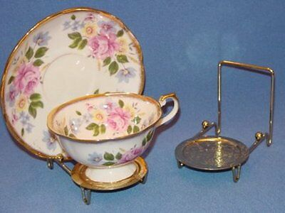 Tea Cup Racks, Platform Teacup Display Racks, Set of 3