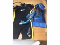Wet Suit/ Snorkel/ Mask/ Fins - US Divers