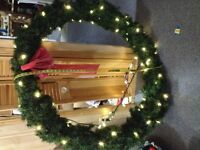 GREAT GIFT IDEA Giant lighted Wreath