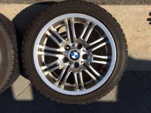 4 BMW Rims with Snow Tires