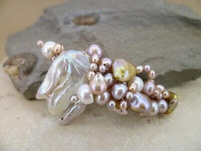Hairclip barrette in your choice of  pearls & gems - perfect personal gift