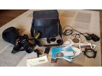Nikon DSLR D70 with accessories and bag