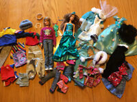 Barbie Dolls and Clothing