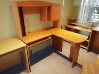 Cherry Workstation Right-Hand Return perfect for Home Office - £89.00+VAT