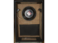 Hand made vented box Stereo Speaker casing black finish