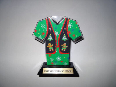 Ugly Sweater Award Trophy with Green Sweater 7