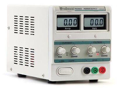 Velleman Ps3003u Lab Power Supply 0-30v 0-3a Dual Lcd Display