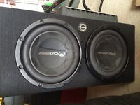 """2 12"""" Pioneer subs with Kenwood amp"""