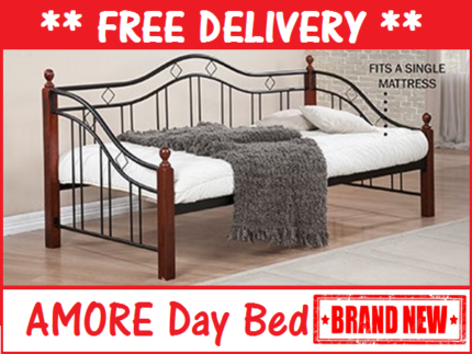FREE DELIVERY Single Size AMORE Day Bed Frame BRAND NEW