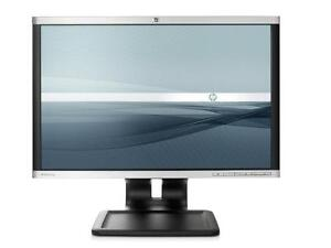 HP Compaq LA2205wg 22-inch Widescreen LCD Monitor - 1680x1050 - VGA, DVI-D, DisplayPort - USED