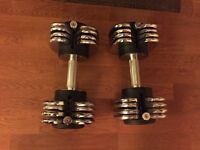 Multi weight switchable dumbbell, 10 - 50 pounds