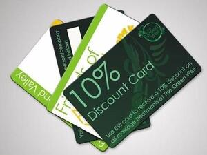 Discount Cards Printing as low as $0.18/eafree template