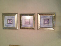 Series of 3 Framed Picture Set